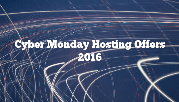 Cyber Monday Hosting Offers 2016